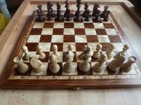 Шахматная доска, ручной работы из натуральных сортов цветной древесины. Размеры